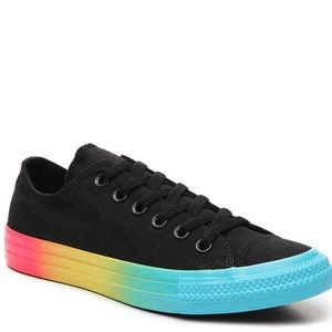 NEW Rainbow Ice Black Ombre Sole Low Top Sneakers